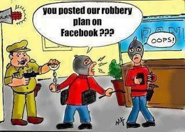 bank robbery facebook joke